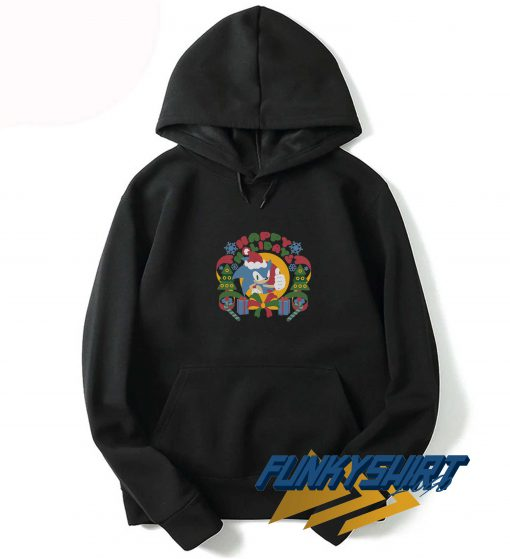 The Hedgehog Winter Sonic Claus Hoodie