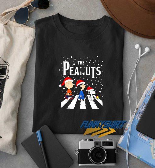 The Peanuts Abbey Road Christmas t shirt