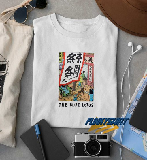 Tintin The Blue Lotus t shirt