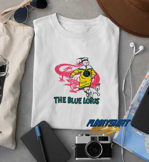 Vintage Tin Tin Blue Lotus t shirt