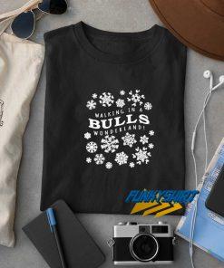 Walking In A Bulls Christmas t shirt