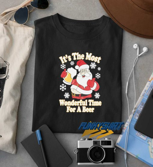Wonderful Time For A Beer Christmas t shirt