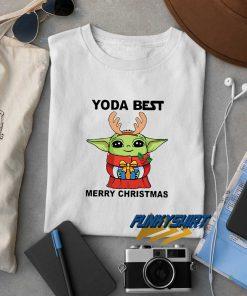 Yoda Reindeer Best Merry Christmas t shirt