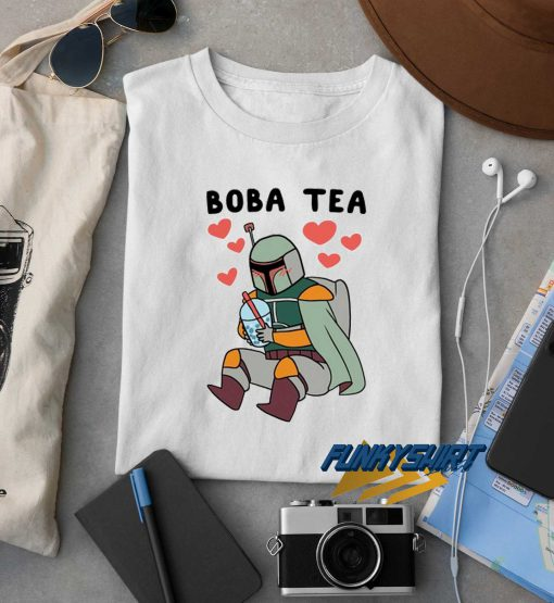 Boba Fett Drinking Boba Tea t shirt