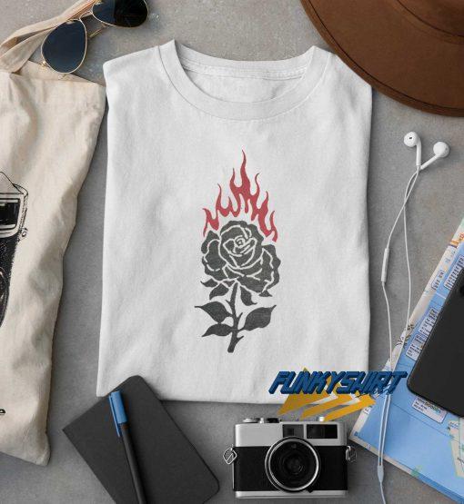 Burning Rose t shirt