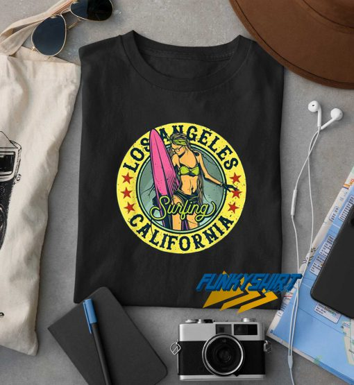 California Los Angeles Surfing t shirt