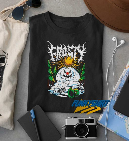 Frosty Angry Snowman t shirt