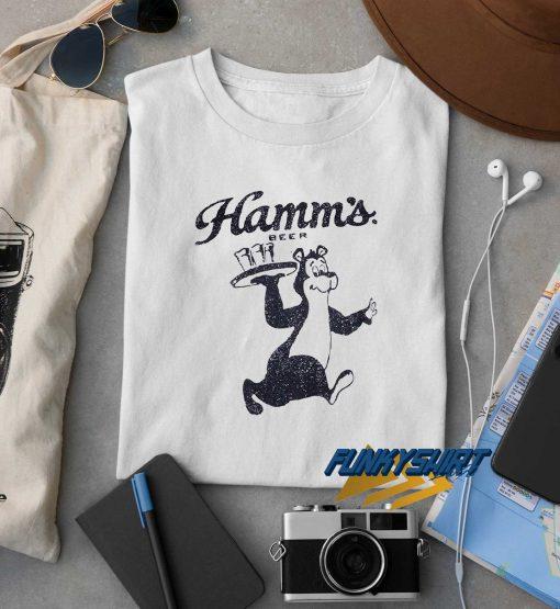 Hamms Bear Waiter t shirt