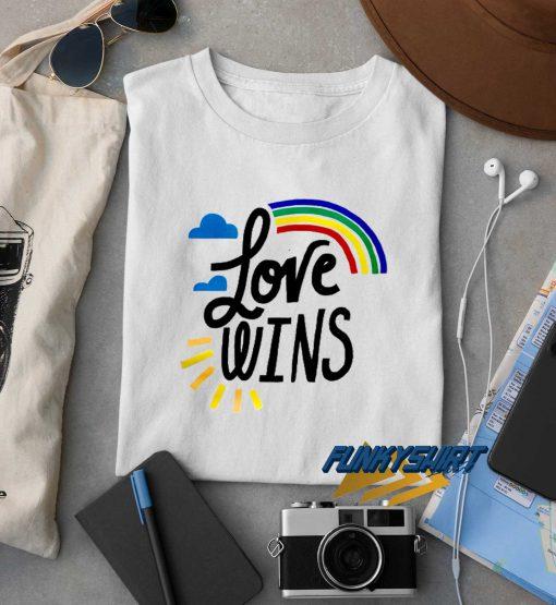 Love Wins Rainbow t shirt