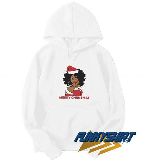 Merry Christmas Black Girl Hoodie