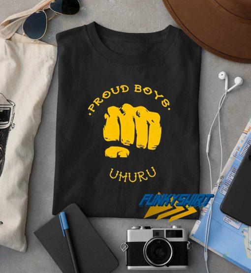 Proud Boys Uhuru t shirt