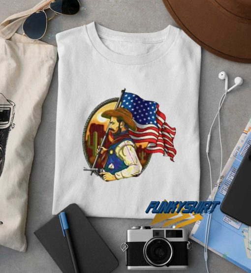 Sheriff Man With American Flag t shirt