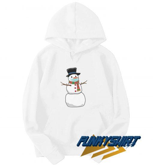 Snowman Wearing Mask Hoodie