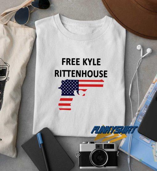 Free Kyle Rittenhouse Gun t shirt