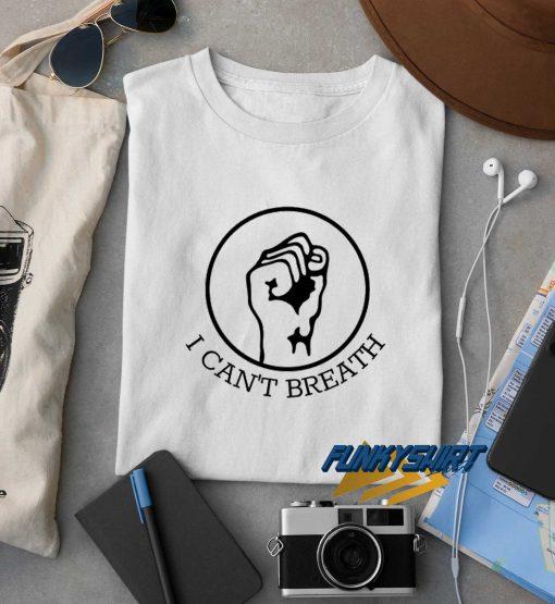 I Cant Breath Logo t shirt