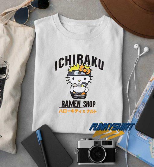 Kitty Ichiraku Ramen Shop t shirt
