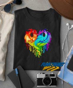Lgbt Dragon Heart t shirt