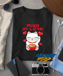 Neko Cat Miso In Love t shirt
