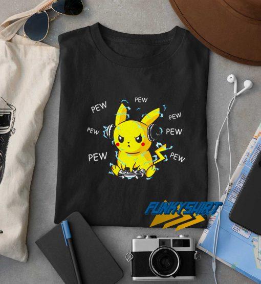 Pikachu Listening Music t shirt