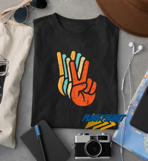 Vintage Peace Sign Hand t shirt
