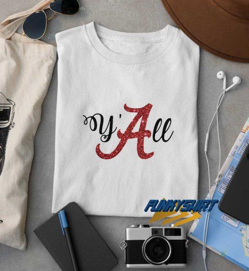 Yall Alabama Crimson Printed t shirt