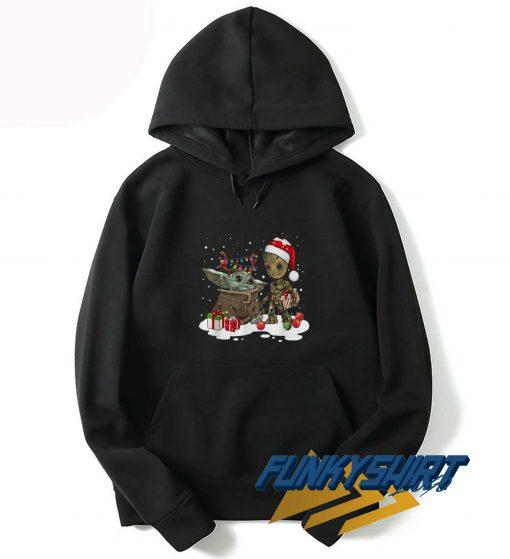 Yoda Groot Santa Christmas Hoodie