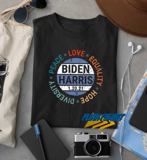 Biden Peace Love Equality t shirt