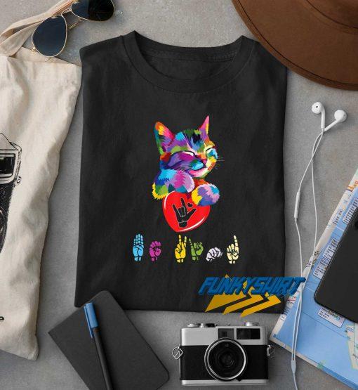 Cat Colorful Hug Be Kind t shirt