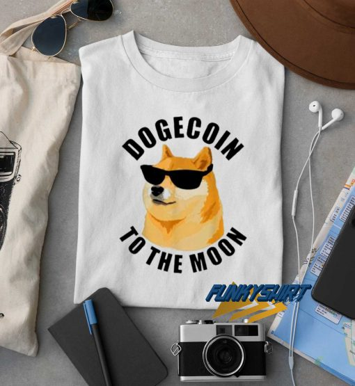 Dogecoin To The Moon Cool t shirt