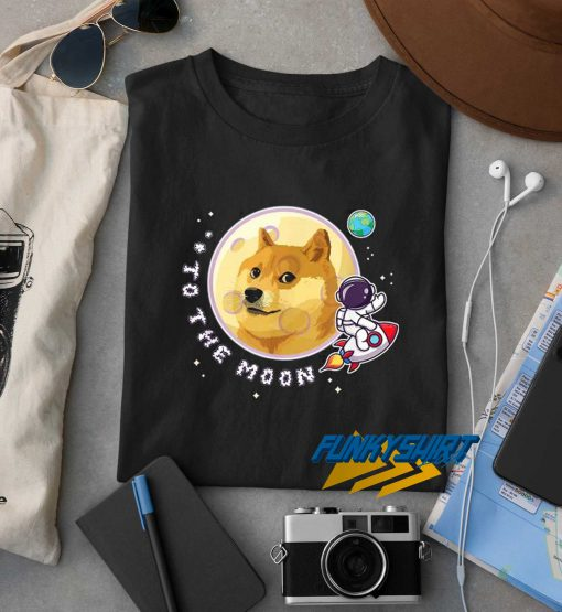 Dogecoin To The Moon Graphic t shirt
