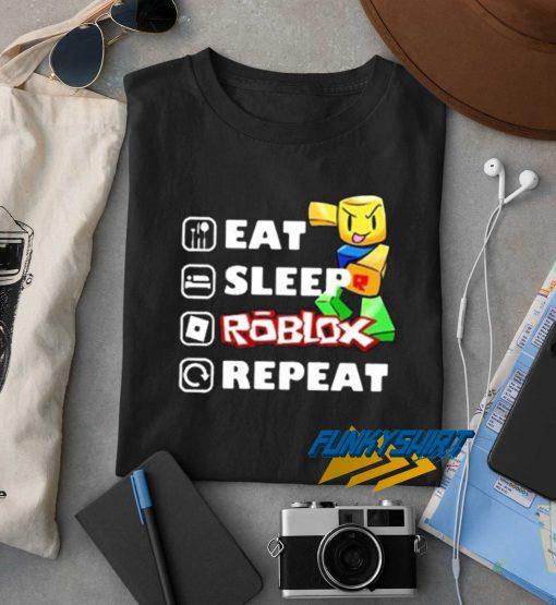 Eat Sleep Roblox Repeat Graphic t shirt