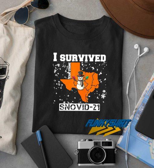 I Survived Snovid 21 Texas t shirt