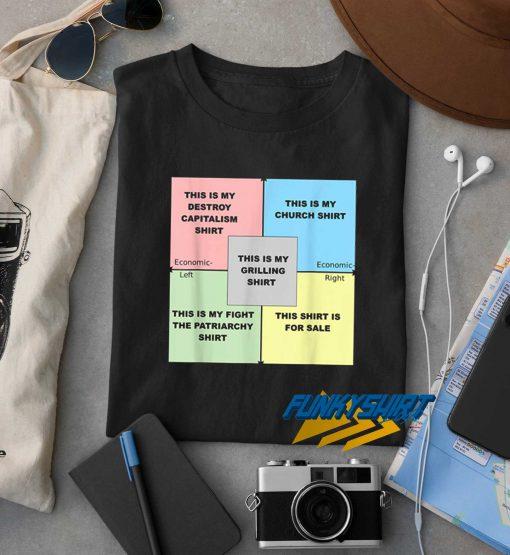 Political Compass Memes t shirt
