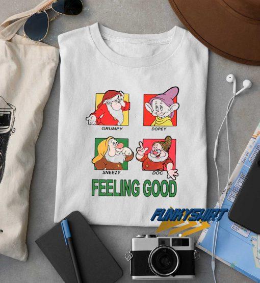 Snow White Feeling Good Grid t shirt