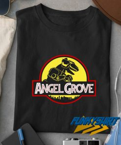 Angel Grove Jurassic Park Logo t shirt