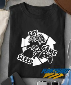 Eat Sleep Game Repeat Art t shirt