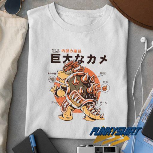 Japan Bowserzilla Funny t shirt