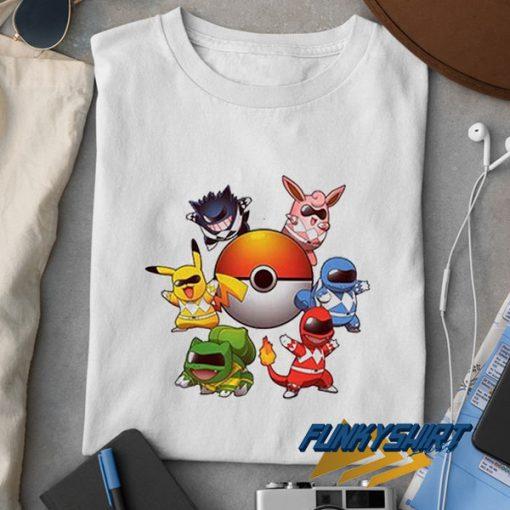Pokemon Power Rangers Parody t shirt