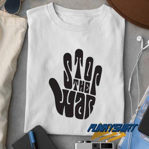 Stop War Hand Graphic t shirt