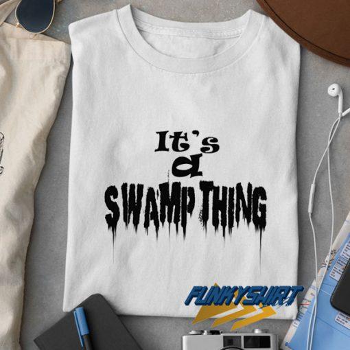 Swamp Thing Letter Melt t shirt
