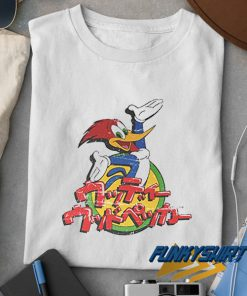 Woody Woodpecker Kanji Cartoon t shirt