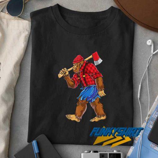 Bigfoot Lumberjack Sasquatch t shirt
