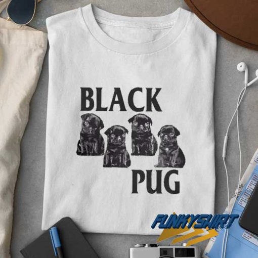 Black Pug Dog t shirt