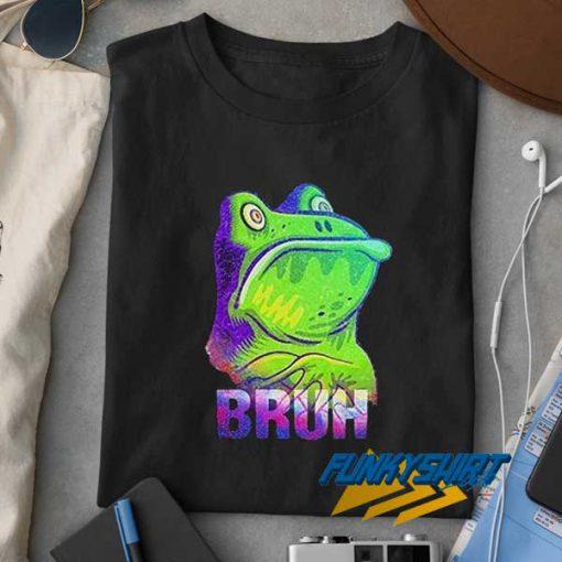 Bruh Frog Print t shirt