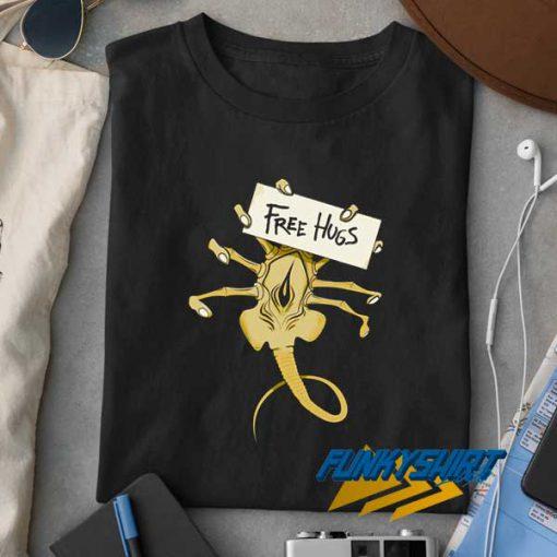 Free Hugs Alien t shirt