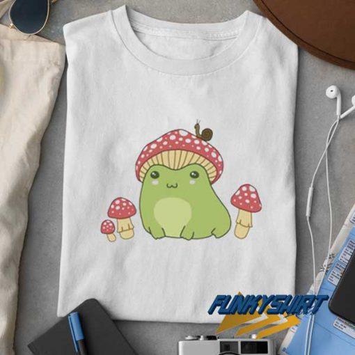 Frog With Mushroom Hat t shirt