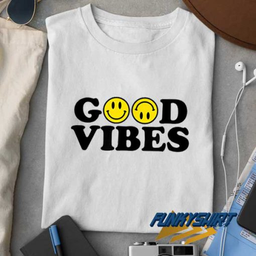 Good Vibes Smiley Face t shirt