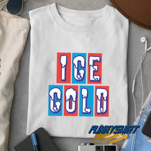 Ice Cold Lettering t shirt