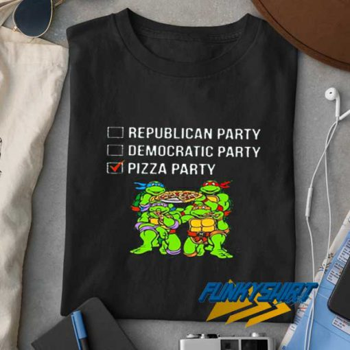 Ninja Pizza Party List Funny t shirt