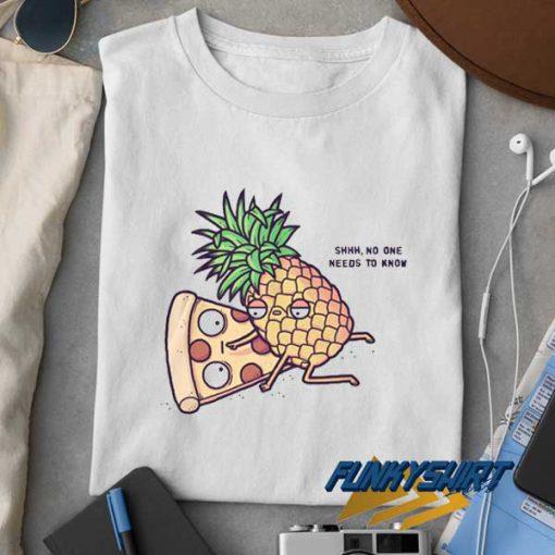 Pineapple Pizza Cartoon Meme t shirt